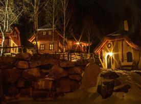 Večerní pohled do kouzelné vesničky