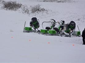 Ski areál Mrákotín - sněžná děla odvedla již svojí práci a reál je v provozu 01/2015