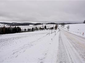 Zasněžené krajina ve Studené 2015