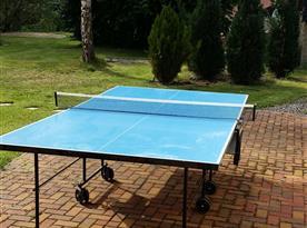 Ping pong na zahradě