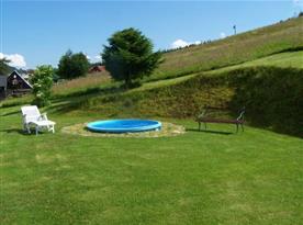 Možnost využití bazénku k osvěžení v horkých dnech