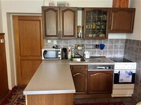 kuchyň v 10 ti lůžkovém apartmánu