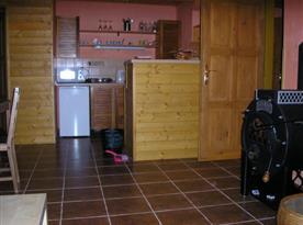 Pohled na kuchyňský kout v apartmánu C