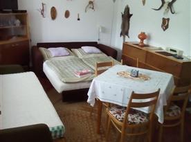 Apartmán A - pokoj jako dvoulůžkový,pokoj lze upravit i na jednolůžkový