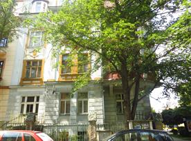 Pohled na apartmán z ul. Londýnská