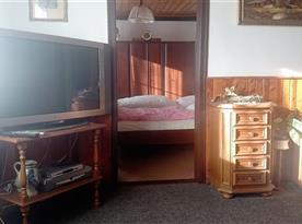 Náhled z obýváku do ložnice patro