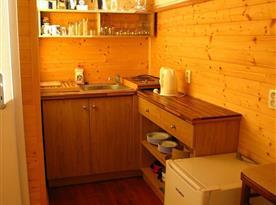 Chatka nahoře-kuchyňský kout