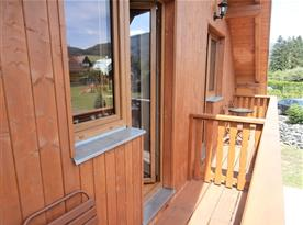 Balkon k ložnicím v 1.patře