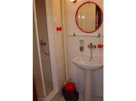 Koupelna se sprchovým koutem, umývadlem a zrcadlem spol.sociální zařízení