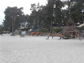 nedaleká Hlavní pláž Staré Splavy v ranních hodinách
