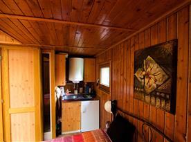 Interiér bungalovu