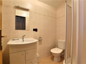 Apartmán č. 3 koupelna se sprchovým koutem