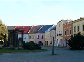 Historické Horní náměstí u Zámku, Přerov, krásná procházka blízko řeky
