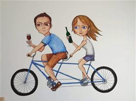 Víno, kola, pohodička