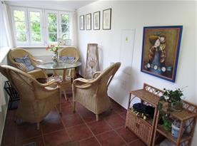 Veranda s posezením