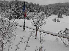 Výhled z oken 2021..vsude spoustu sněhu