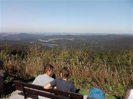 Krušné hory..další rozhledna kousek za hranicemi v Auersbergu