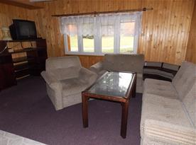 Obývací místnost chata 8 lůžková