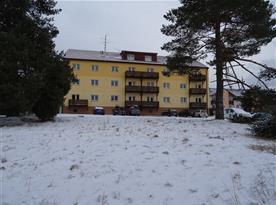 Zimní pohled na apartmány
