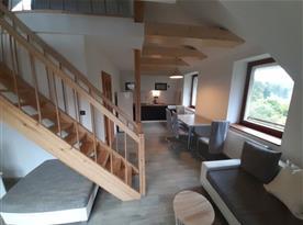 Apartmán Západ - obývací pokoj