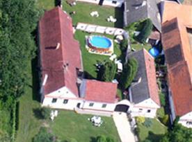 Letecký pohled na penzion