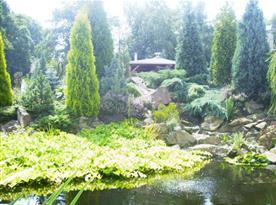 Zahrada areálu
