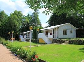 Pohled na bungalovy