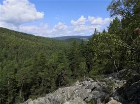 Chalupa U lesa pronájem - Čertova stěna  výhled