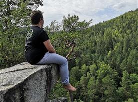 Chalupa U lesa pronájem - Čertova stěna