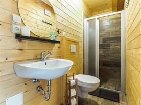 Koupelna s toaletou v chatovém apartmánu