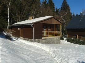 Chata Yukon v zimě