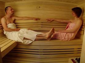 Nově vybudovaná sauna