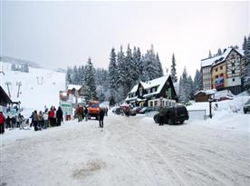 Pohled na apartmán a lyžařské středisko