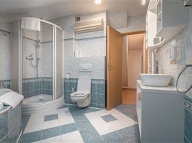Koupelna s toaletou pro podkrovní pokoj