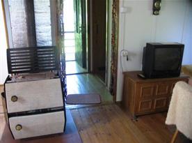 Televize v obývací místnosti
