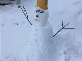 sněhulák  s rukama z aukra za 400 :D