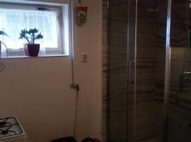 Apartmán v suterénu pro 5 osob-Sprcha v rámci kuchyně