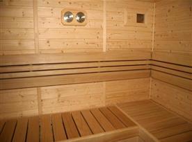 Sauna v přízemí chalupy