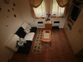 Pohled na obývací pokoj