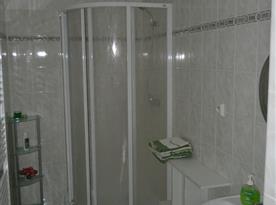 Koupelna, sprchový kout, žebříkové topení