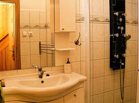 Koupelna s masážním sprchovým koutem