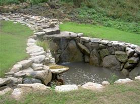 Rybníček v blízkosti objektu