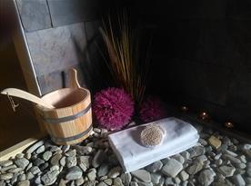 Dekorace  v relaxační chatě