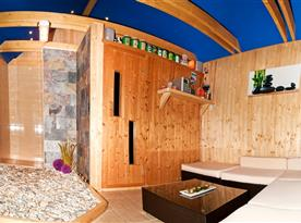 interiér relaxační chaty