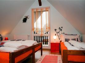 Chata B - velká ložnice