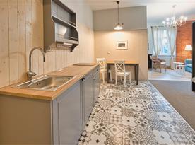 Apartmán I - kuchyňský kout