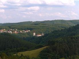 hrad Křivoklát do cca 15 km