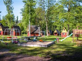 Dětské hřiště v areálu kempu