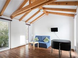 Mobilní dům - obývací pokoj