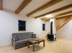 Chalupa pro 10 osob - obývací pokoj